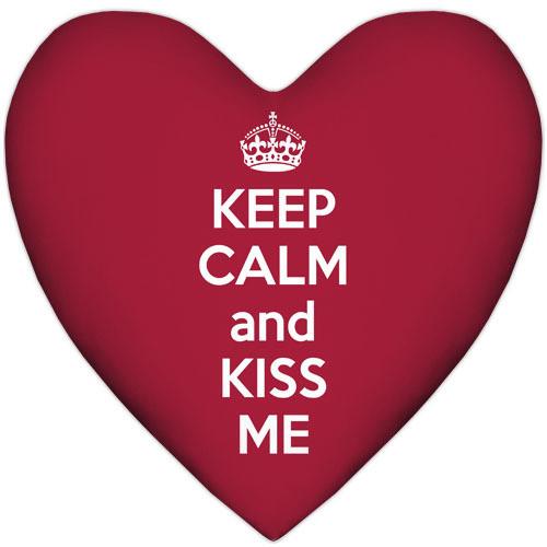 Подушка сердце Keep calm and kiss me 37x37 см (4PS_15L061)