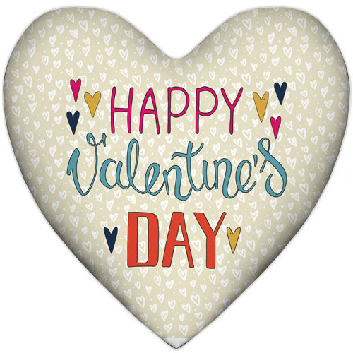 Подушка сердце Happy Valentine`s day 37x37 см (4PS_17L011)