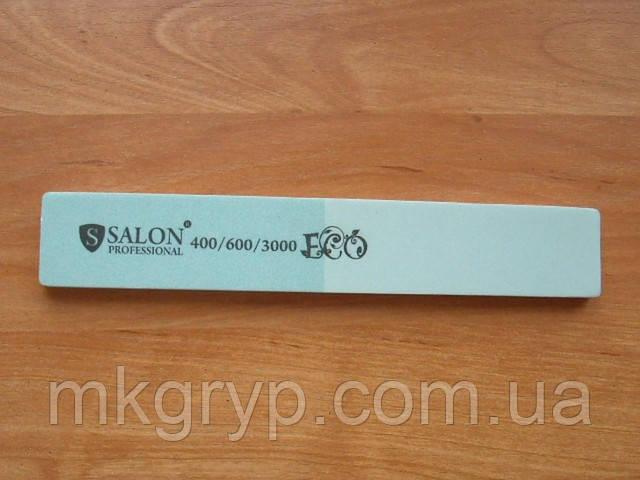 """Пилка """"Salon professional""""- широкая прямая, 400/600\3000 грид"""