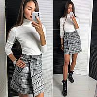 a92da025ab7 Женская шикарная юбка в клетку и гольф отдельно (3 цвета)