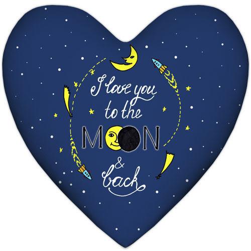Подушка сердце I love you to the moon & back 37x37 см (4PS_WOL013)