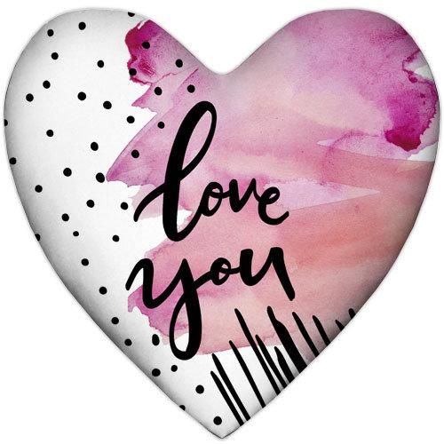 Подушка сердце Love you 37x37 см (4PS_18L032)