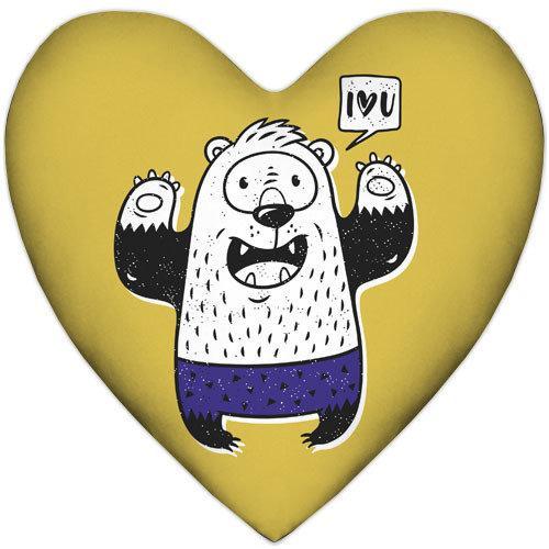 Подушка сердце I love you 37x37, 57x57 (4PS_18L036)