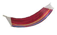 Удобный гамак с перекладиной, размеры 200*100 см, для дачи и отдыха на природе, хлопок, выдерживает 120 кг