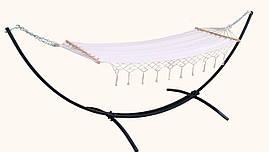 Одноместный гамак с рамой WHITE 200х80 см