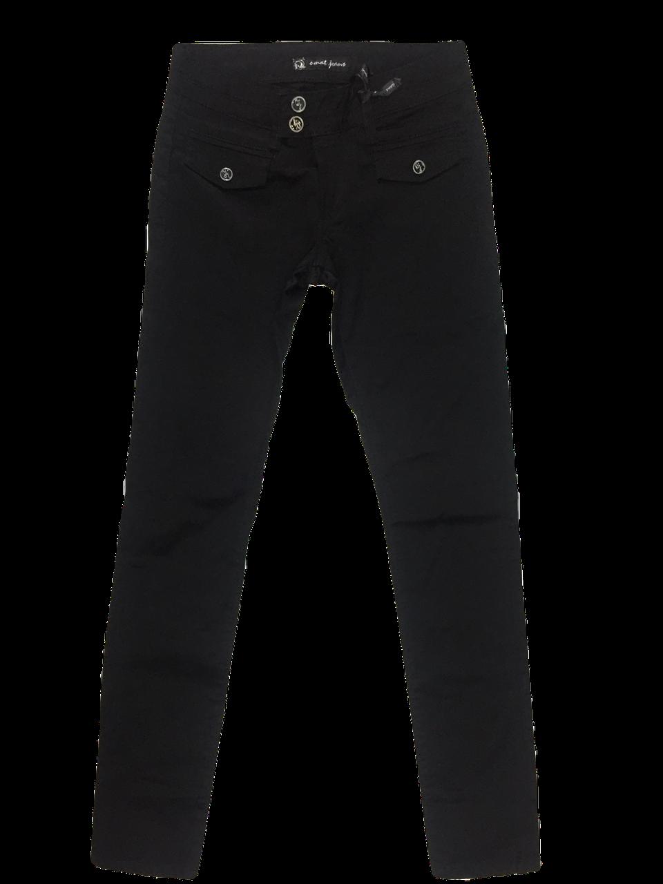 Стрейчевые чёрные джинсы Омат 9589