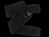 Стрейчевые чёрные джинсы Омат 9589, фото 2