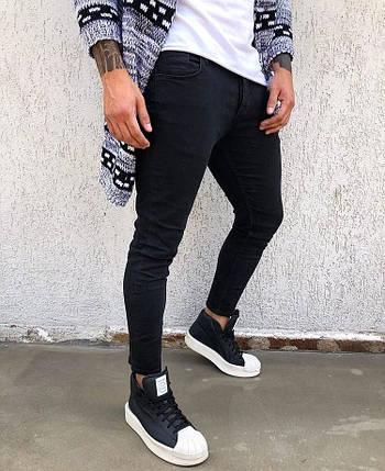 60161faaaf8 Джинсы мужские черные узкие slim fit  продажа