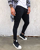 Джинсы мужские черные узкие slim fit