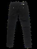 Стрейчевые чёрные джинсы Омат 9589, фото 3