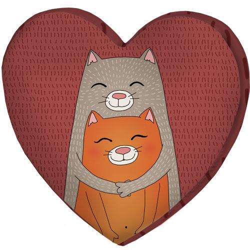 Подушка сердце 3D Дуже ніжно тебе кохаю! 40х40х7,5 см (3DPS_RSAN014)