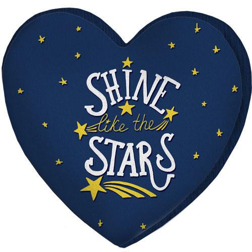 Подушка сердце 3D Shine like the stars 40х40х7,5 см (3DPS_WOL029)