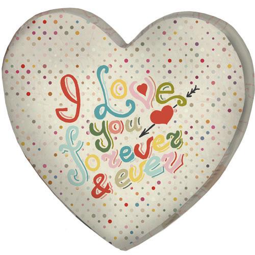 Подушка сердце 3D I love you forever & ever 40х40х7,5 см (3DPS_WOL038)