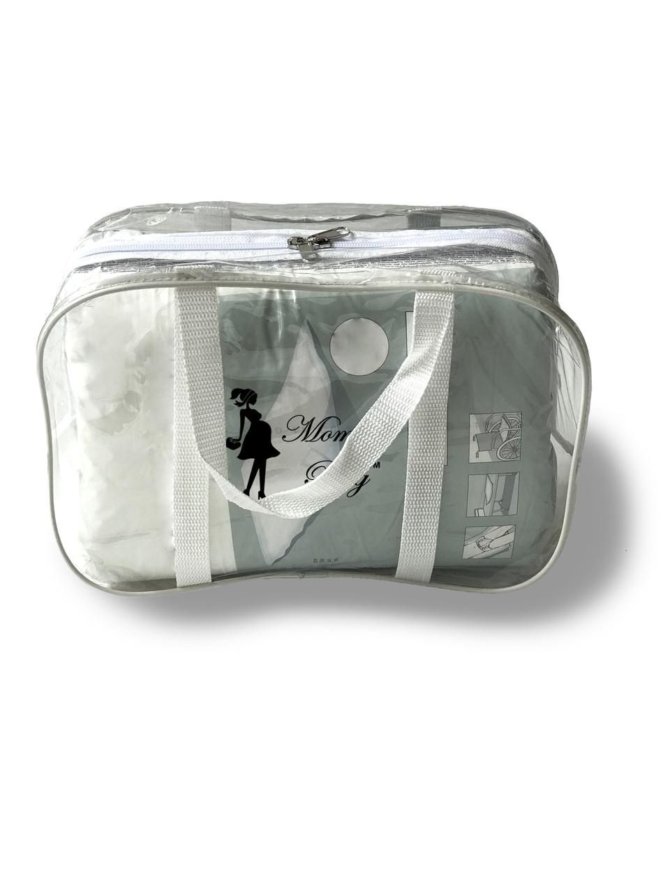 Сумка прозрачная в роддом Mommy Bag - S - 31*21*14 см Белая