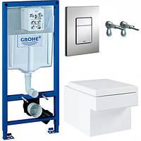 Набор инсталляция для унитаза Grohe Rapid SL с унитазом Grohe Cube Rimless и крышкой Soft-Close 39244CB0, фото 1