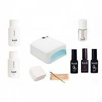 """Набір """"Kodi Professional"""" для покриття нігтів гель лаком з лампою 36 Вт KM - 818"""