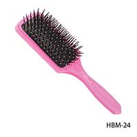 Расческа прямоугольной формы HBM-24 с защитными шариками на зубцах, размер: 23,8х7,8 см