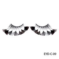 Ресницы декоративные накладные Lady Victory EYD-C-09 с натуральными перьями