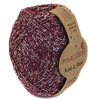 Трикотажный шнур Knit&Shine,цвет бордовый