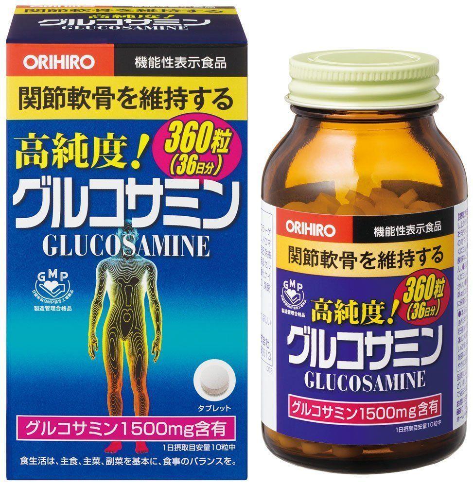 Orihiro глюкозамин высокой чистоты 1500 мг+ хондроитин дополнения  360 таблеток