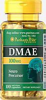 Puritan's Pride DMAE 100 mg 100 caps, Пуритан Прайд ДМАЕ 100 мг 100 капсул
