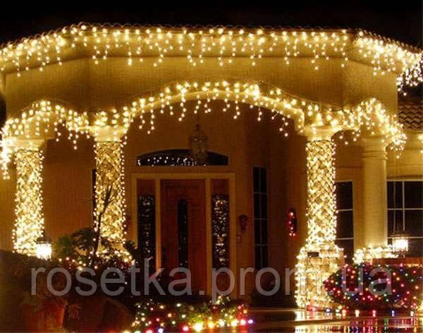 Гирлянда LED бахрома 120 светодиодов (мульти, белая, синяя, желтая, розовая)