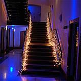 Гирлянда LED бахрома 120 светодиодов (мульти, белая, синяя, желтая, розовая) , фото 2
