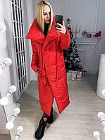 """Женская зимняя длинная куртка на завязках """"Одеяло"""""""