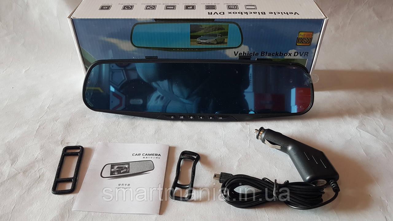 Автомобильный видеорегистратор зеркало регистратор с одной камерой Vehicle Blackbox DVR Full HD1080