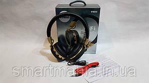 Беспроводные наушники Bluetooth стерео гарнитура JBL Wireless V684 FM радио/MP3 реплика Черный