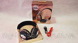 Беспроводные блютуз наушники с микрофоном стерео гарнитура JBL Wireless V682 FM радио/MP3 реплика  Черные
