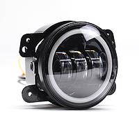 Світлодіодні Протитуманні фари 4 дюйма (90 mm) (LED) DL-J045F, Jeep Wrangler|Авто|пара, фото 1