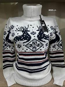 Теплый вязаный свитер женский 0035 с.т.