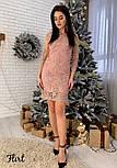 Женское праздничное платье с дорогим итальянским кружевом (3 цвета), фото 3