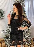 Женское праздничное платье с дорогим итальянским кружевом (3 цвета), фото 8