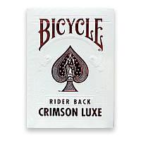 Карты для игры в покер USPCC Bicycle Crimson Luxe, КОД: 258453