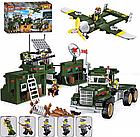 Конструктор Brick 1713  Брик  Военная база 687 деталей , фото 8