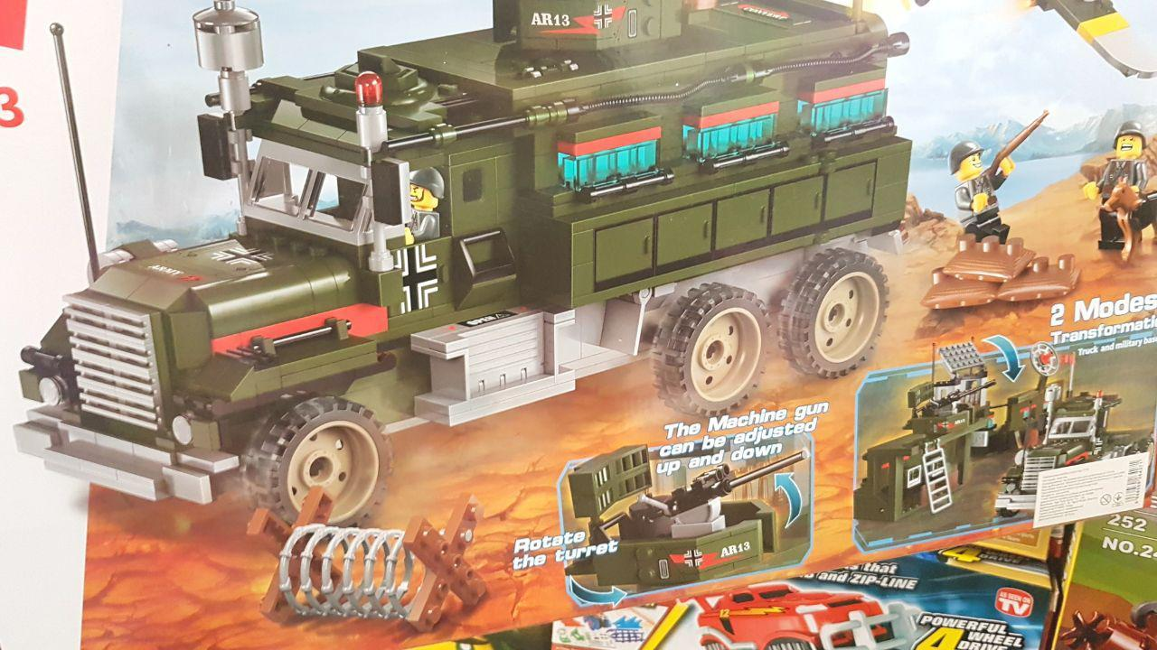 Конструктор Brick 1713  Брик  Военная база 687 деталей