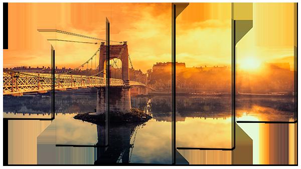 Модульная картина Interno Холст Мост на рассвете 158х90см (R797XL)
