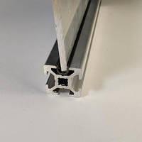 Окантовочний профіль під паз 6мм, чорний пластик (станочный алюминиевый профиль)