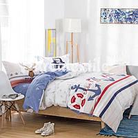 Комплект постельного белья подростковый полуторный моряк