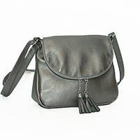 Женская серебряная сумка через плечо с кисточками BagTop арт. BTJS-19-2 b5a562dbc215d