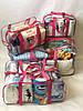 Набор из 3 прозрачных сумок в роддом сумка - S,L,XL - Розовые, фото 7