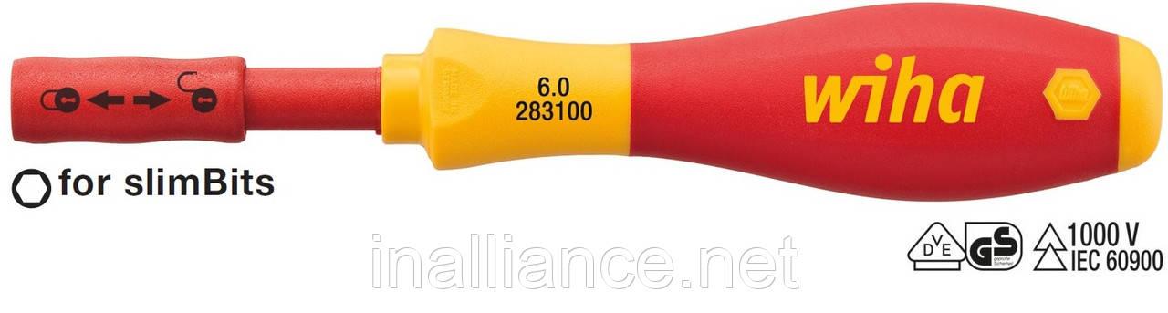 Держатель битов 6,0 мм electric slimVario с рукояткой и ClicFix SoftFinish Wiha 34577