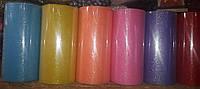 Фатин с напылением (блестками), цвета в ассортименте, ширина 15 см, намотка 23 м, фото 1