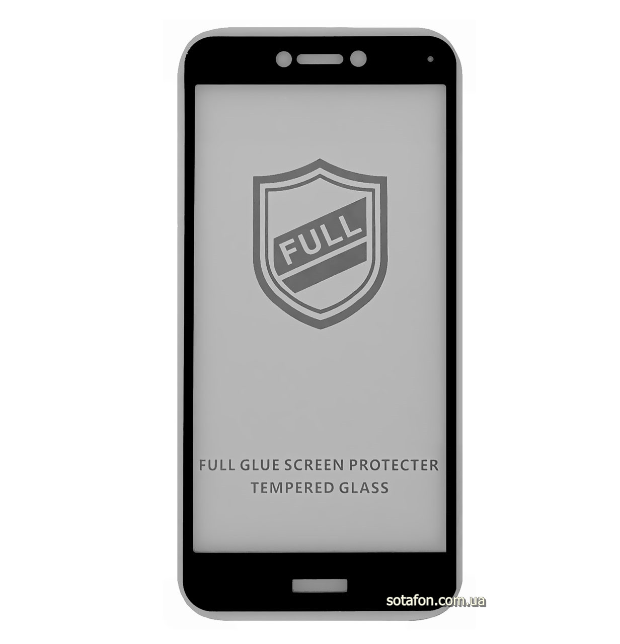 Защитное стекло 5D Full Glue для Huawei P8 Lite (2017) Black (Screen Protector 0,3 мм)