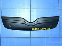 Зимняя заглушка решётки радиатора Skoda Fabia II верх 2007-2009 глянец Fly  Утеплитель решётки Шкода Фабия, фото 1