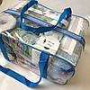 Набор из 3 прозрачных сумок в роддом сумка - S,L,XL - Синие, фото 5