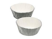 SDI Формы для кексов бумажные 7см 24 единицы Серебряная фольга