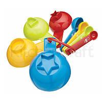 Miniamo Brights Набор мерных ложек и чашек с формами для печенья 8 единиц